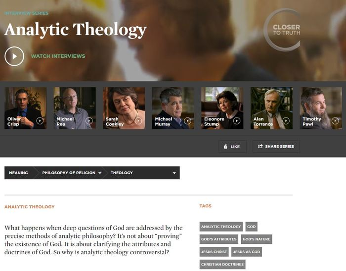Closer To Truth Analytic Theology