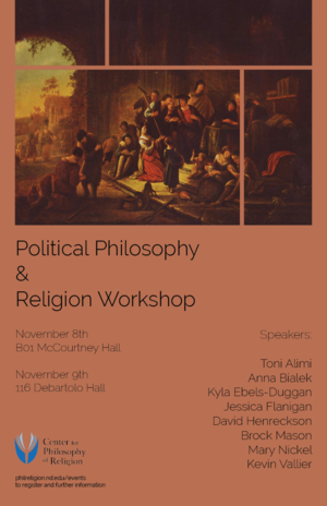 Poster: Political Philosophy & Religion Workshop
